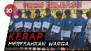 Geng Motor Sadis di Cianjur Ditangkap Lalu Dijemur Polisi
