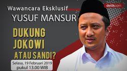 Tonton Wawancara Eksklusif: Yusuf Mansur Dukung Jokowi atau Sandi?