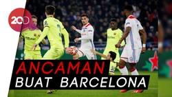 Barcelona Ditahan Lyon, Skor Akhir 0-0