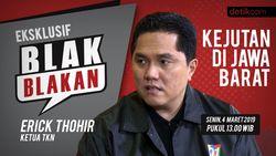 Tonton Blak-blakan Ketua TKN Erick Thohir, Kejutan Jokowi di Jabar