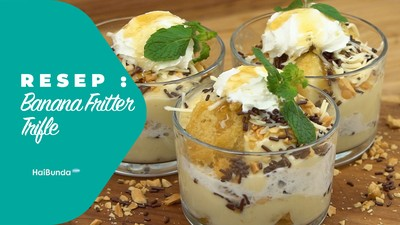 Resep Banana Fritter Trifle
