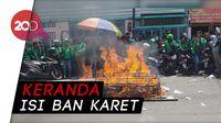 Gara-gara Tak Ditemui Perwakilan Go-Jek, Driver Ojol Bakar Keranda