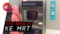 Wih! Stasiun MRT Punya Mesin Tiket Otomatis dan Kantong Parkir