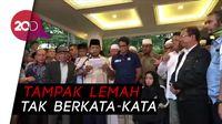 Sandi Akhirnya Muncul, Dampingi Prabowo Orasi Klaim Menang