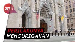 Polisi New York Tangkap Pria Bawa Bensin Masuk Katedral