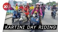 Kartini Day! Emak-emak di Kediri Touring Naik Vespa