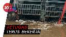 Sampah di Pintu Air Manggarai Berangsur Hilang