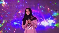 Anggunnya Ayu Saat Bernyanyi - Sunsilk Hijab Hunt 2019 Makassar