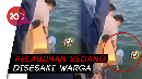 Asyik Ngabuburit, Wanita dan Motornya Kecebur Laut Gegara Senggolan