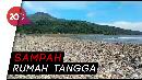 Miris! Sampah Menumpuk di Pantai Loji Ciletuh Jabar