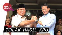Gaya Salam Komando Prabowo-Sandi Usai Tolak Hasil Pilpres