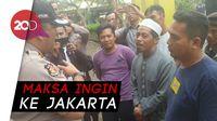 Ogah Dipulangkan, Peserta Aksi Pro-Prabowo Dikuliahi Polisi