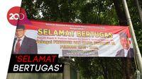 Ramai Spanduk Selamat Prabowo Presiden di Kertanegara