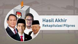 Hasil Rekapitulasi Pilpres Tiap Provinsi