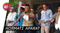 Wejangan Prabowo ke Pendukung: Hindari Kekerasan