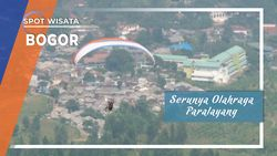 Serunya Olahraga Paralayang, Puncak, Bogor
