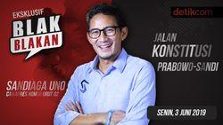 Tonton Blak-blakan Sandiaga: Jalan Konstitusi Prabowo-Sandi