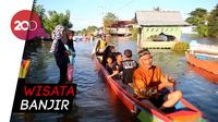 Lokasi Banjir di Sidrap Disulap Bak Tempat Wisata Warga