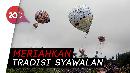 Ratusan Balon Udara Warnai Langit Wonosobo