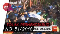 Rusuh! Mahasiswa di Jawa Timur Demo Tolak Sistem Zonasi