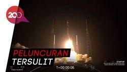 Tersulit! SpaceX Luncurkan Roket Falcon Heavy, Bawa 24 Satelit