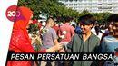 Syukuran Jokowi-Maruf, Relawan Bagikan 1.000 Tangkai Mawar di CFD