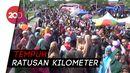 Tiket Pesawat Mahal, Calon Jemaah Haji Pasangkayu ke Makassar Naik Bus