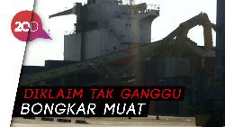 Butuh 5 Hari untuk Evakuasi Bangkai Crane yang Ambruk Tertabrak Kapal