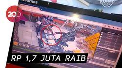 Detik-detik Perampok Bergolok Satroni Minimarket di Surabaya
