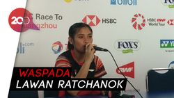 Lolos ke 16 Besar, Gregoria Pede Lawan Ratchanok Intanon