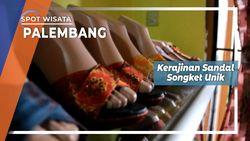 Kerajinan Sandal Songket Khas Palembang