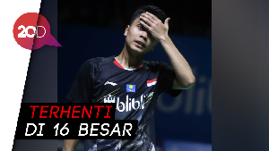 Anthony Ginting Gagal Melaju ke Perempat Final Indonesia Open