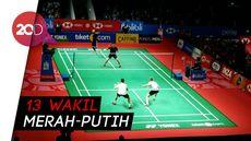 Indonesia Loloskan 13 Wakil ke Babak Kedua Indonesia Open 2019