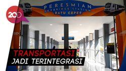 Skybridge St Batu Ceper Beroperasi, Manjakan Penumpang KRL-KA Bandara