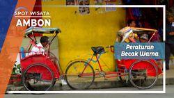 Becak Warna Kota Ambon , Alat Transportasi Bebas Polusi