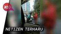 Apresiasi untuk Driver Ojol Pemberi Jaket ke Tunawisma yang Telanjang