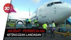 Pesawat Sriwijaya Keluar Landasan saat Parkir di Bandara Kendari
