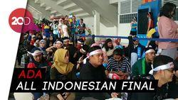 Antusiasme Suporter di Laga Puncak Indonesia Open 2019