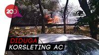 Bus Akas Surabaya-Probolinggo Hangus Terbakar, Sisakan Rangka