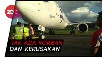 Sriwijaya Bantah Pesawatnya Tergelincir: Roda Terblok Aspal Amblas