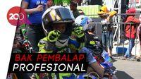 Aksi Pembalap Cilik di Road Race Mini GP Probolinggo