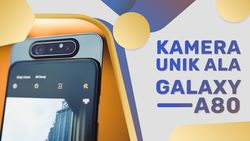 Galaxy A80 Tampil Mengoda dengan Kamera Pop-up Bolak-balik