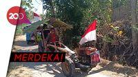 Cara Unik Petani Magetan Sambut HUT RI, Konvoi di Sawah Pakai Traktor
