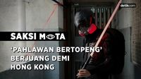 Kisah Pahlawan Bertopeng di Barisan Terdepan Demo Hong Kong
