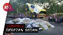 Aksi Gajah Monster Terbang di Parkir Timur Senayan