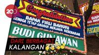 Karangan Bunga Selamat Berjejer di KPK untuk  Filri Bahuri