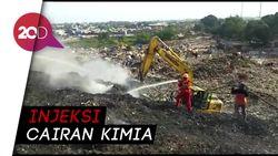 Manggala Agni Suntikkan Flame Freeze Tangani Kebakaran TPA Antang Makassar