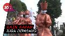 Kecewa Karena Asap, Ikon Kota Jambi Dipasangi Masker