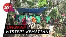 Polisi Bongkar Makam Korban yang Terjerat Tali di Hutan Jati