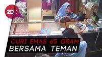 Terekam CCTV Curi Emas, Wanita Paruh Baya Nangis Saat Ditangkap